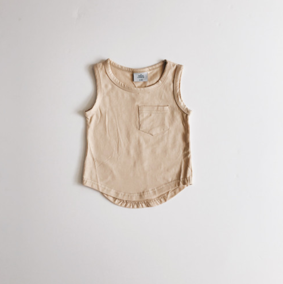 Pocket Tank Top // Sand