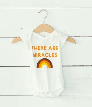 "NEW! ""There Are Miracles"" Organic Onesie // Cream"
