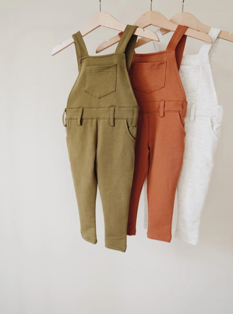 Load image into Gallery viewer, Long Overalls // Olive