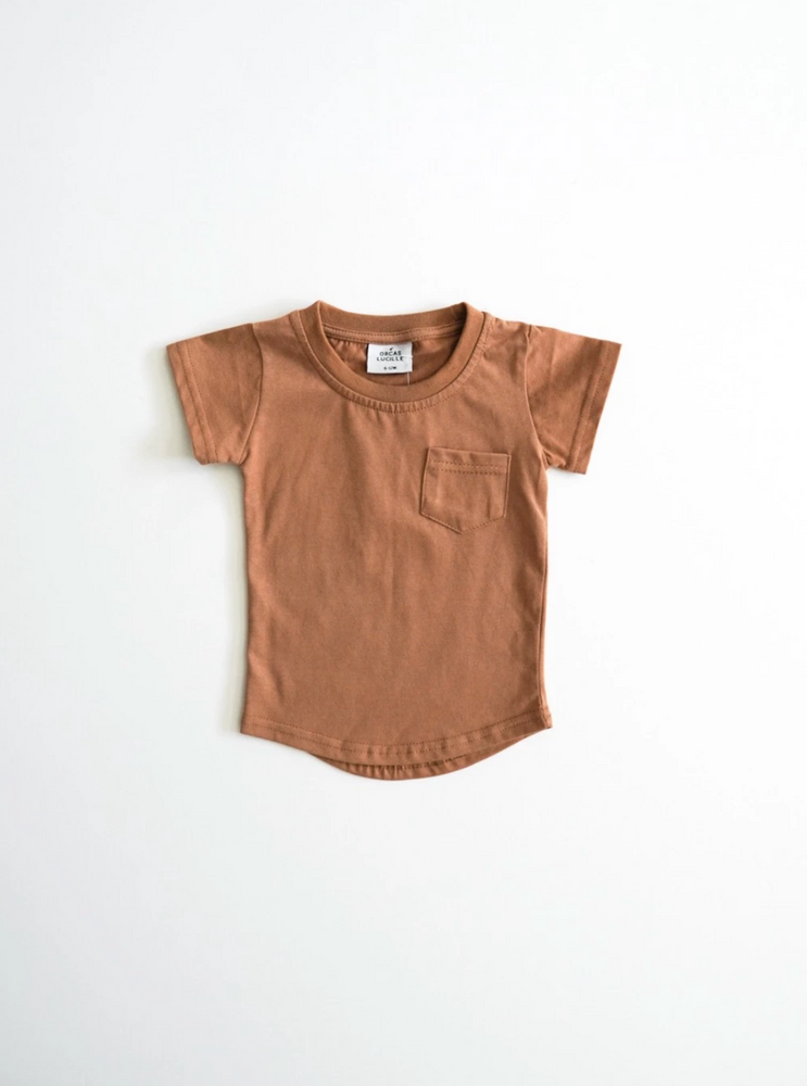 Brushed Cotton Tee // Camel