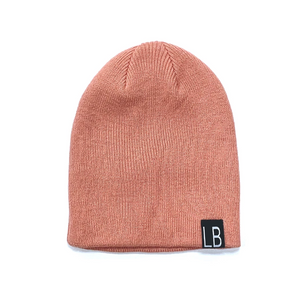 Knit Beanie // Dusty Blush