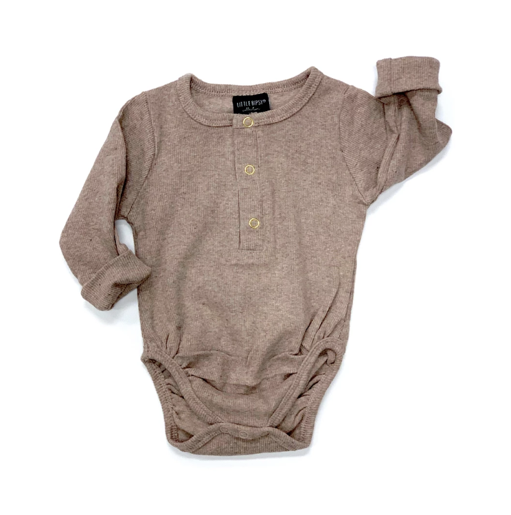 Ribbed Onesie // Taupe