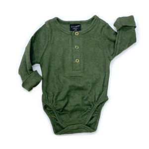 Load image into Gallery viewer, Ribbed Onesie // Hunter