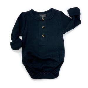 Ribbed Onesie // Black