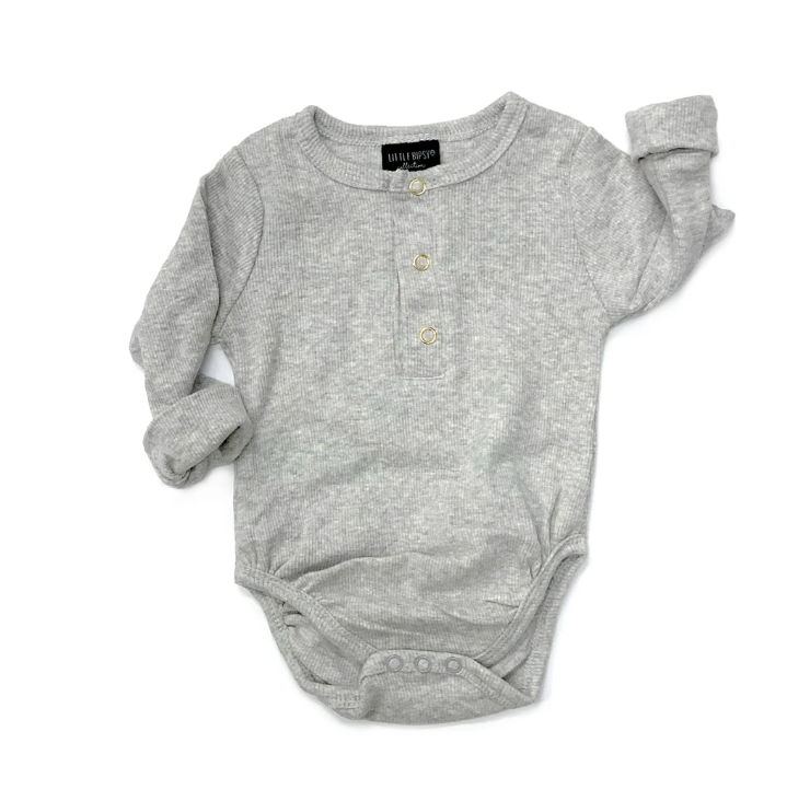 Ribbed Onesie // Grey