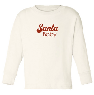 """Santa Baby"" Long Sleeve Tee // Cream"