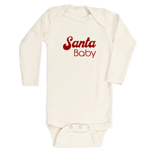"""Santa Baby"" Long Sleeve Bodysuit // Cream"