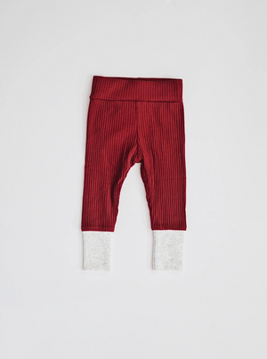 Ribbed Set // Cherry