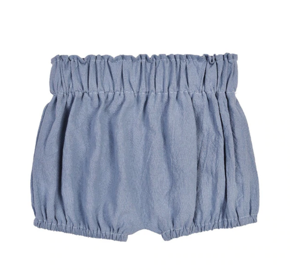 Load image into Gallery viewer, Linen Shortie Bloomers // Indigo Blue