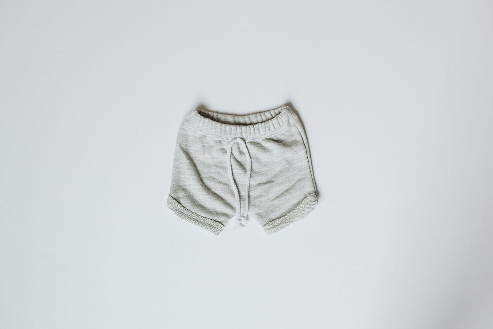 Load image into Gallery viewer, Curved Hem Harem Shorts //  Heather Grey