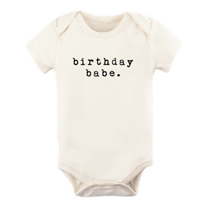 "Load image into Gallery viewer, ""Birthday Babe"" Bodysuit // Natural"