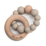 Crew Teether // Silicone + Wood // Taupe