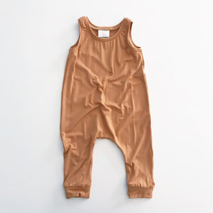 Load image into Gallery viewer, Tank Romper // Camel