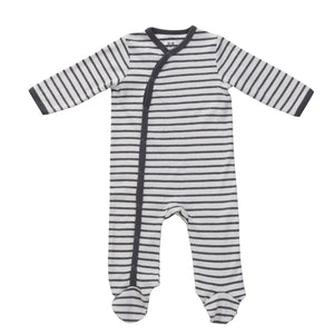 Footie Pajama // Stripe // 6-9 Month