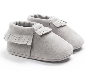 Suede Moccasins // Gray