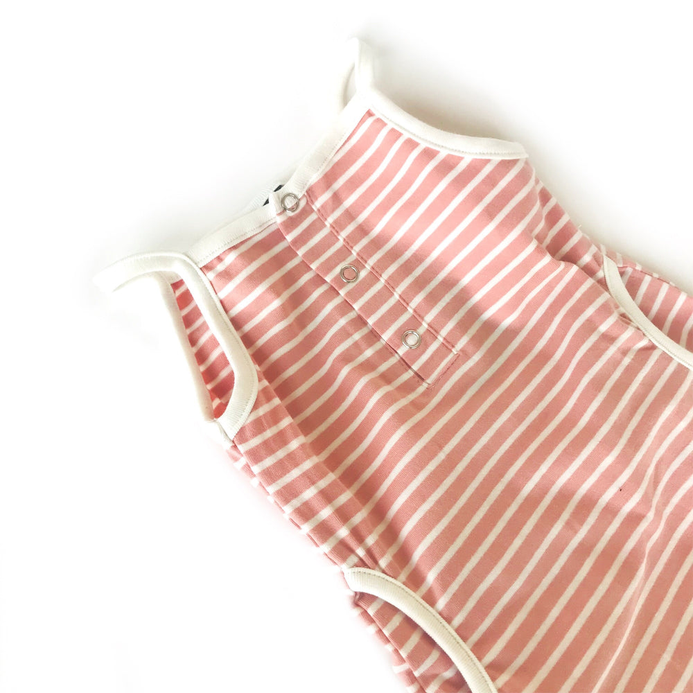 Tank Stripe Romper // Blush // 3-6 Month