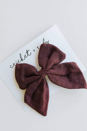Linen Bow Clip // Fig