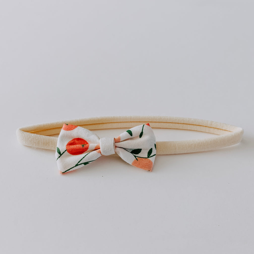 Garden Bow Headband // White, Pink & Green