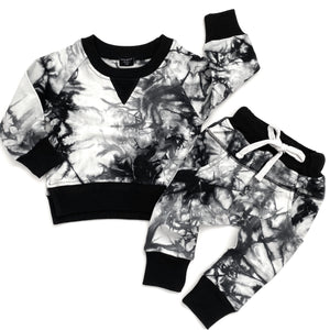 Load image into Gallery viewer, Tie Dye Joggers // BLACK
