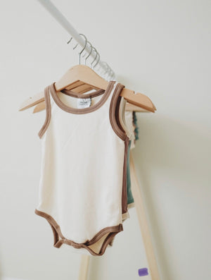 Load image into Gallery viewer, Ribbed Bodysuit // CREAM