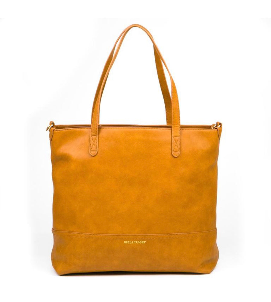 Vegan Leather Boss Bag  // Cognac