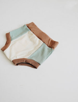 Ribbed Colorblock Bloomer // OCEAN