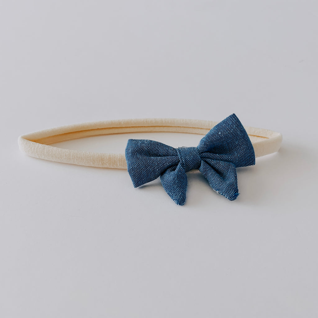 Bow Headband // Blue