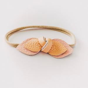 Load image into Gallery viewer, Leather Knot Headband // Blush + Peach