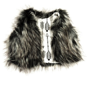 Load image into Gallery viewer, Fur Vest // Grey