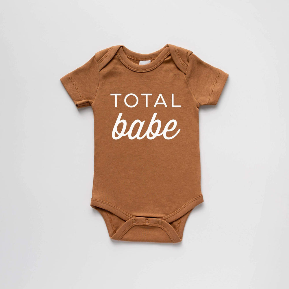 "Load image into Gallery viewer, ""Total Babe"" Bodysuit // CAMEL"