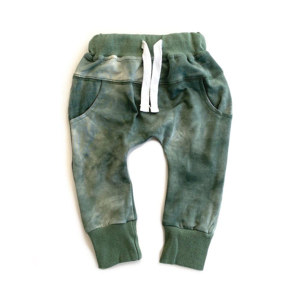 Load image into Gallery viewer, Tie Dye Joggers // SAGE