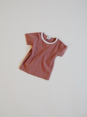 Retro Tee // Terracotta + Cream
