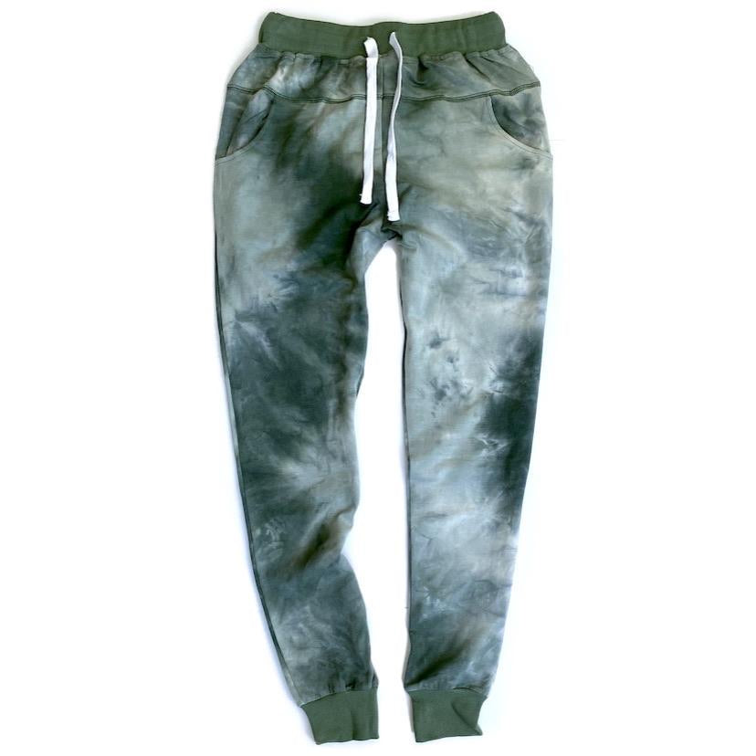 Load image into Gallery viewer, MAMA // Tie Dye Joggers // SAGE