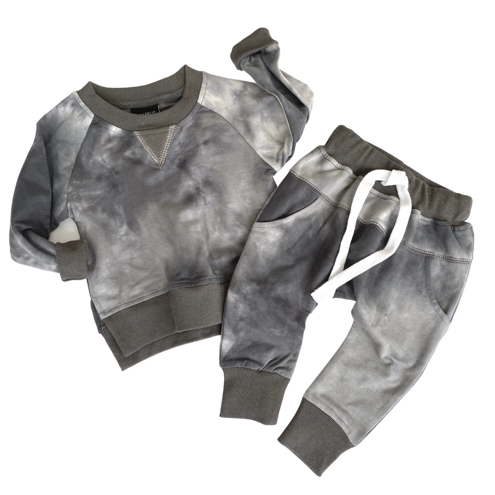 Load image into Gallery viewer, Tie Dye Joggers // CHARCOAL