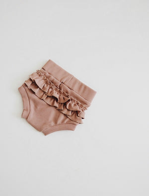 Load image into Gallery viewer, Ribbed Ruffle Bloomer // PALE MAUVE