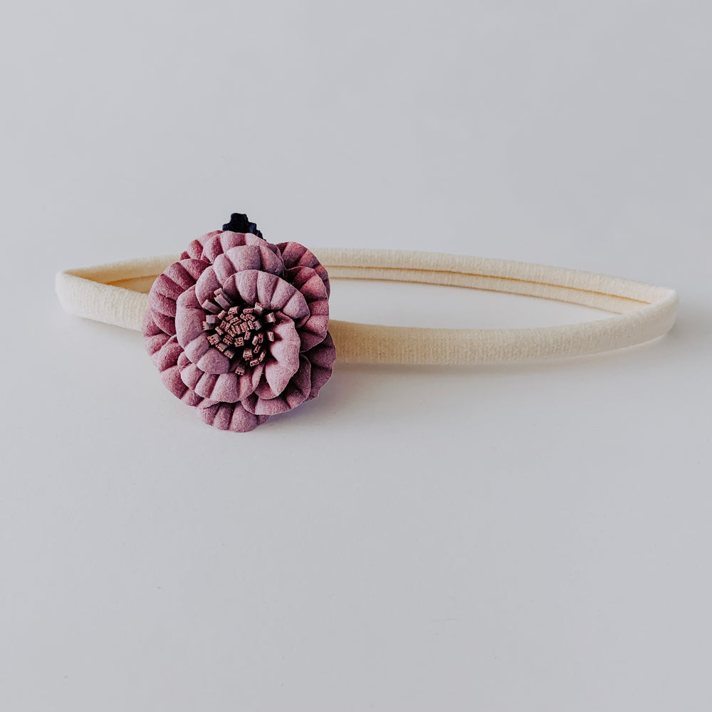 Flower Headband // Lavender & Purple