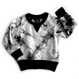 Load image into Gallery viewer, Tie Dye Pullover // Black