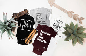 """No Chill"" onesie // BLACK"