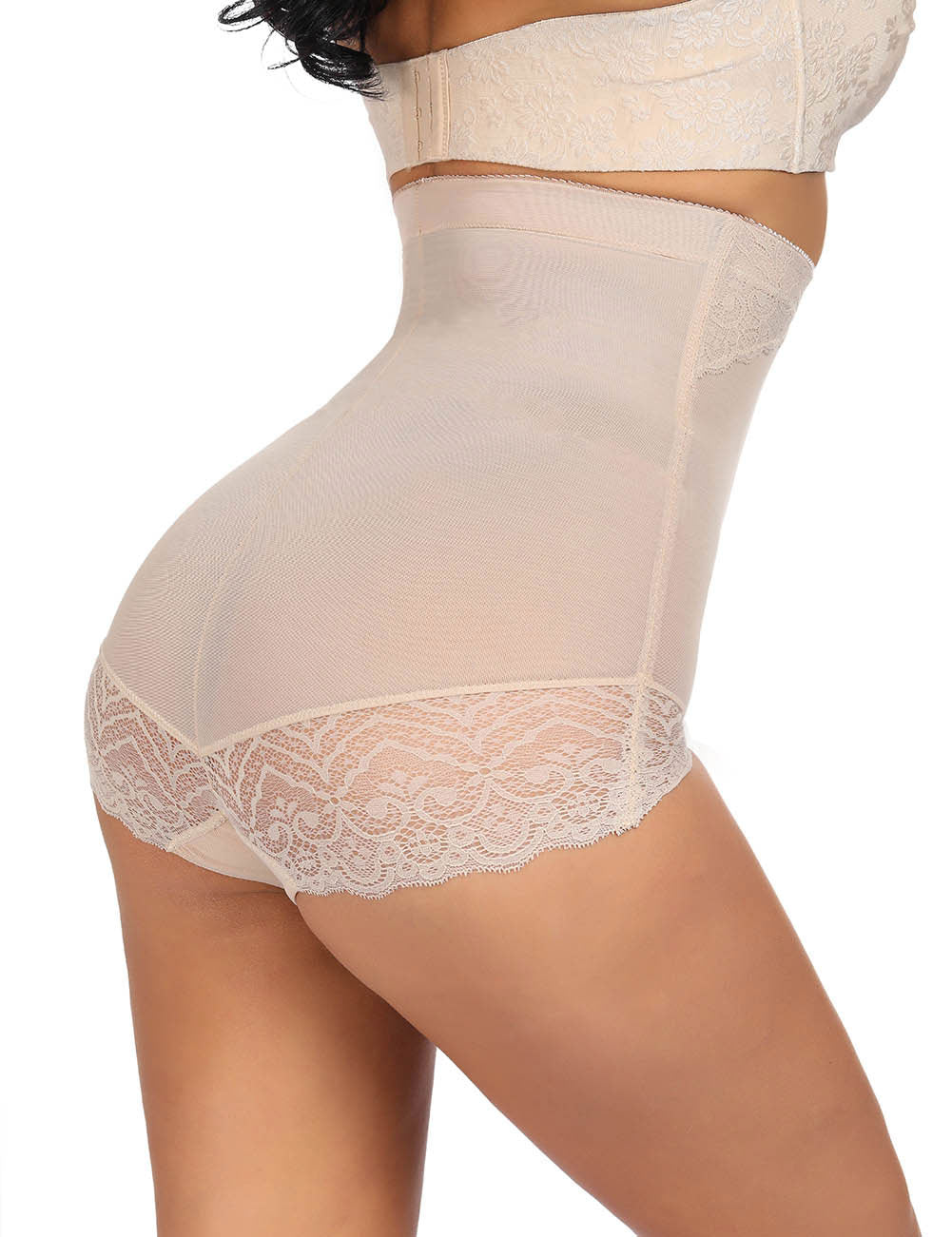 Curvyfeel Lace Patchwork High Rise Butt Lifter Big Size