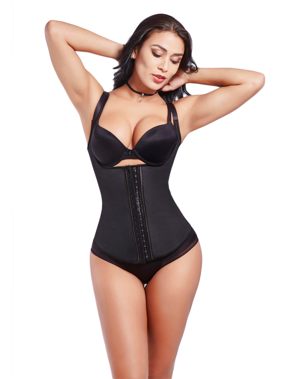 Curvyfeel Power Slim Strap 5 Steel Boned Colombian Latex Waist Cincher