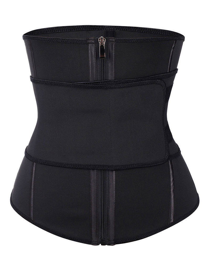 Curvyfeel 7 Steel Boned Zipper Waist Cincher