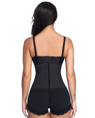 Curvyfeel 4 Steel Bones Latex Waist Trainer Plus Size