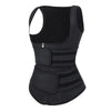 Graceful Black Latex Double Belts Sticker Vest Shaper