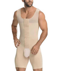 Big Size Hooks Mens Body Shaper Open Crotch