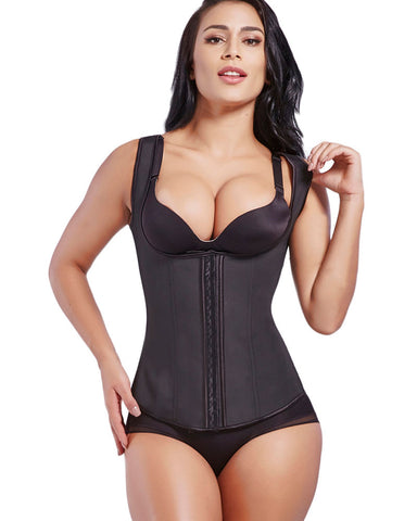 Curvyfeel U Style Latex Waist Trainer 9 Steel Bones Super Faddish