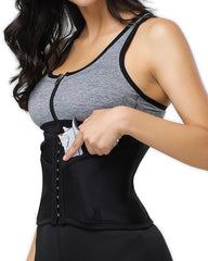 Curvyfeel 3 Hooks Velcro Boneless Concealed Carry Corset