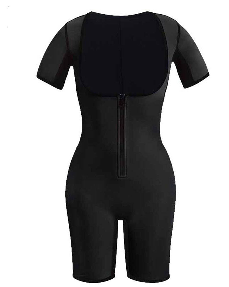 Curvyfeel Women Full Body Shaper with Sleeves Firm Control Bodysuit