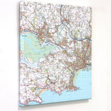 Personalised Canvas Wall Maps