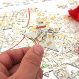 Personalised Merry Christmas Map Jigsaw Puzzle