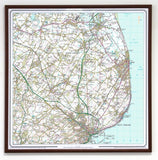 Ordnance Survey Personalised Landranger Wall Map Centred on Your Home